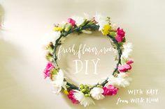 Fresh Flower Crown DIY From Katy Robinson / Ruche Blog