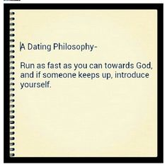 A dating philosophy
