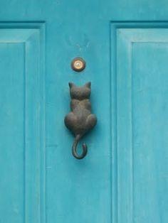 cat knocker cute!