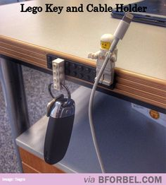 Coolest Lego Key And Cable Holder…