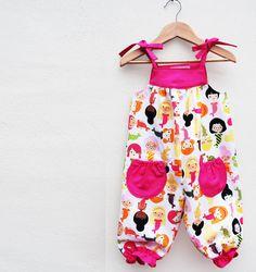 Girls Little Mermaid summer romper by wildthingsdresses on Etsy, $50.00