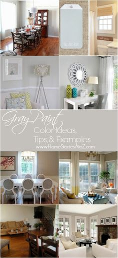 Gray paint color ideas, tips & room examples.