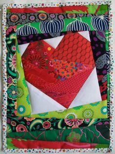 Beautiful Valentine mini quilt.