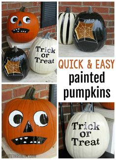 Quick and Easy Painted Pumpkins {writtenreality.com}
