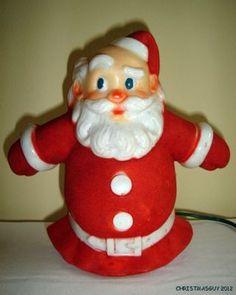 Vintage Santa Collectible ~ Glolite Santa-Glo Lighted Christmas Tree Topper