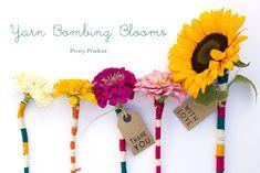 Flower Yarn Bombs