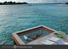 Dock hammock! Wow! I think I love this!