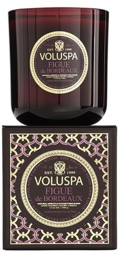 Yummy candle for fall: Voluspa Figue de Bordeaux' yummi candl, voluspa candles, scented candles