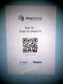 Say hi @WiseStamp HQ QR style