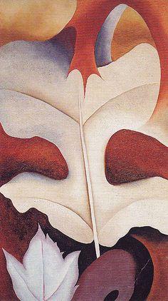 Georgia O'Keeffe. Leaf Motif 1924 No 1