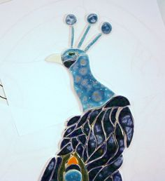 2ft PEACOCK tile mural  tiles to mosaic by mosaicmonkey on Etsy, $115.00