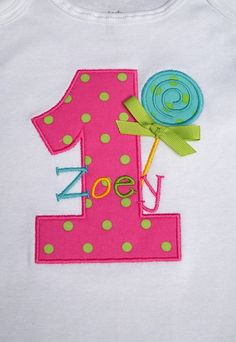 Personalized  Lollipop  Birthday LONG Sleeve by TheSassySquirrel, $18.99