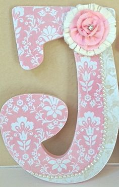 Custom Nursery Wall Letters- Baby Girl Nursery Decor- Wooden Hanging Letters - Personalized- Girl Room Decor- The Rugged Pearl via Etsy
