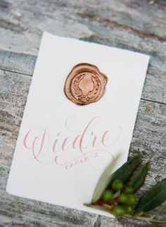 wax seal escort card