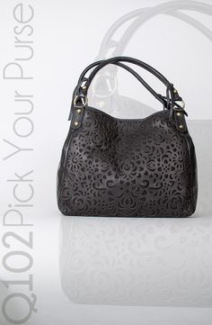 Isabella Flore - Laser Bloom Victoria in Black. Go to wkrq.com to find out how to play Q102's Pick Your Purse!