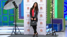 IT'S THE PRICE IS RIGHT LOOK OF THE WEEK! ADD A TOUCH OF GLAMOUR TO YOUR LOOK WITH THIS PAIR OF SKINNY JEANS, FEATHERWEIGHT BLOUSE, AND SEQUINED BLAZER, PERFECTLY PAIRED WITH THIS MICHAEL BY MICHAEL KORS LEATHER SATCHEL AND STACKED PLATFORM SANDALS. #PriceIsRight #LookOfTheWeek #MichaelKors #glamorous #fashionable #8000