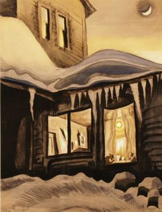 New Moon In January  Charles Burchfield - Collection  Burchfield Penney Art Center