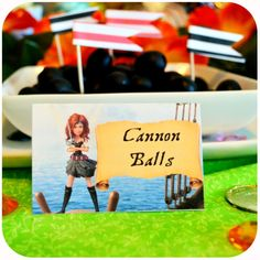 Disney Pirate Fairy Party - Cannon Balls Food on Etsy with Kraftsbykaleigh #kraftsbykaleigh #disneypiratefairy #tinkerbell