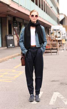 Moda en la calle en Londres: chaqueta de Helmut Lang