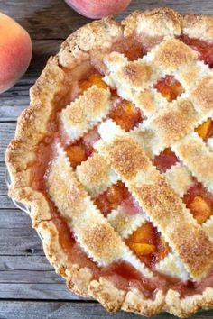 Peach Pie with buttermilk crust