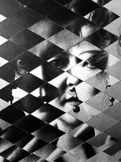 """""""Haunted Mirrors"""", collage by Allison Diaz."""