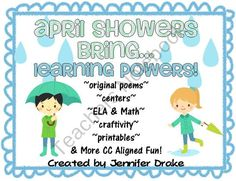 April Showers Bring...Learning Powers!  CC Aligned Activities Centered Around Rain! from Teachers Treasure Chest on TeachersNotebook.com (44 pages)  - This pack centered around rain will leave you students drenched in learning fun!