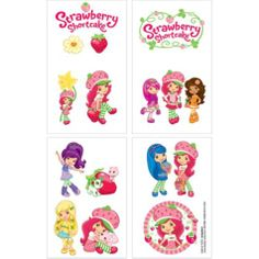 Strawberry Shortcake Tattoos - Party City