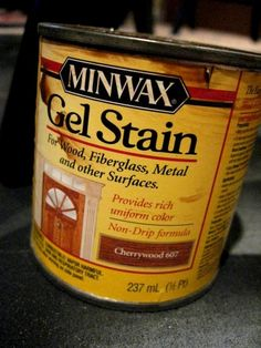 Use Minwax Gel Stain after distressing with Black Painted furniture for that Pottery Barn look.  more pics and details inside--great article!!!  I will be distressing my dining room chairs with this technique I think
