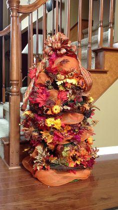 Fall tomato cage tree
