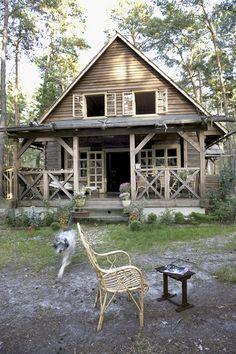 Cabin is so pretty and cozy.