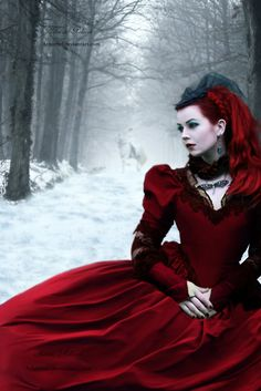 #in snow  Red Dresses #2dayslook #RedDresses #susan257892 #watsonlucy723  www.2dayslook.com
