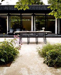 courtyard, modern kitchen garden