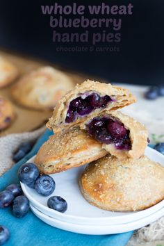 Whole Wheat Blueberry Hand Pies | chocolateandcarrots.com