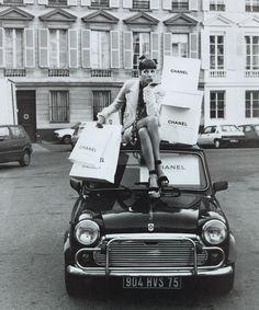 vintag, fashion, chanel, style, white, christi turlington, black, thing, photographi