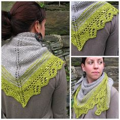 Free lace edged scarf knitting pattern