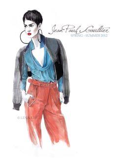 #Jean Paul Gaultier #Lena Ker: inspiration