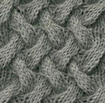 KNITTING: Basket Cable stitch.