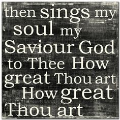 .How great thou art!