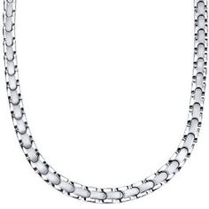 Smooth Style Titanium Mens Two Tone Flat Link 20 inch Chain Necklace.  List Price: $219.96  Savings: $164.97 (75%)