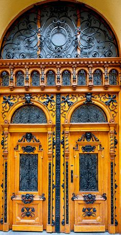 East European Door orange