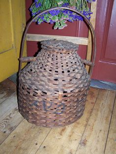 19th century chicken carrier basket. When did you see one of these??