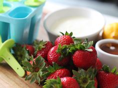 Healthy Homemade Popsicles with Fresh Strawberries and Yogurt