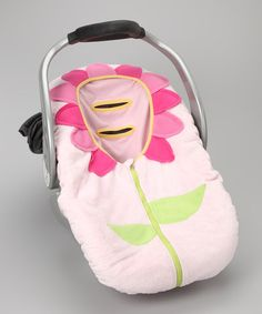 Pink Flower Car Seat Cover.