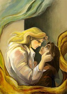 Belle and the Beast - disney-princess Fan Art