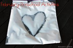 February preschool age activities to do at home