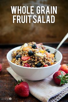 whole grain fruit salad that is awesome # fruitsalad # healthy ...
