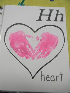 h alphabet in heart  homemade memories alpha...