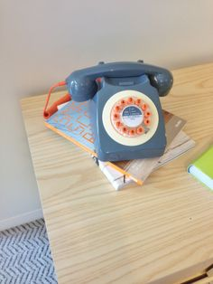 Retro telephones like this one at the @Fay Stovall Brands showroom have been popping up everywhere lately, at NeoCon 2014 and beyond. Could this be the dawn of a landline revival?