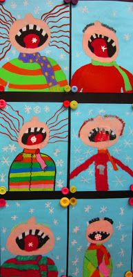 craft, art project, winter classroom art, januari, art idea, friday art feature, catch snowflak, grade 1 art lessons, snowflak art