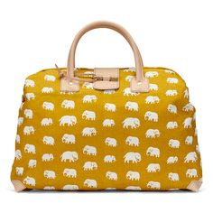mustard yellow + elephants